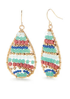 Red Camel Gold-Tone Bohemian Fun Teardrop Earrings