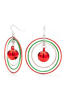 Red Camel® Multi-Linked Jingle Bell Hoop Earrings