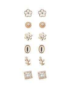 Red Camel Gold-Tone Au Natural 6-Piece Stud Earring Set