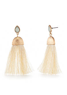 Red Camel Gold-Tone Fringe Earrings