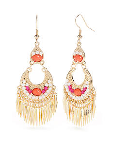 Red Camel Gold-Tone Bohemian Fun Chandelier Earrings