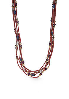 Red Camel Gold-Tone Spirit Animal Collar Necklace