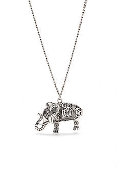 Red Camel Silver-Tone Fall Festival Pendant Necklace