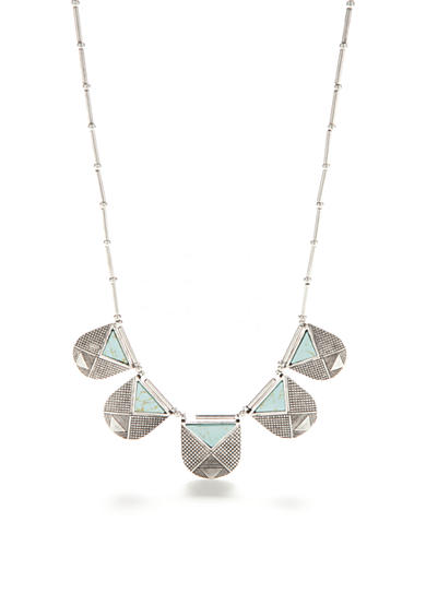 Red Camel® Turquoise Triangle Collar Necklace