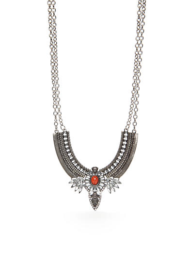 Red Camel® Silver-Tone Edwardian Inspired Statement Necklace
