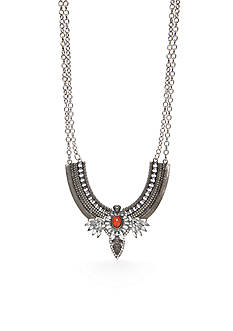 Red Camel Silver-Tone Edwardian Inspired Statement Necklace