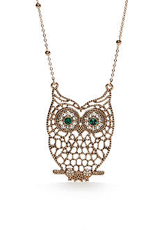 Red Camel® Gold-Tone Spirit Animal Owl Necklace
