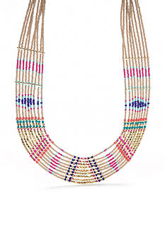 Red Camel Gold-Tone Bohemian Collar Necklace