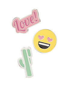 Red Camel® Silver-Tone Cactus Love Multi-Tack Pin Set