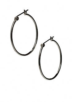 Nine West Mid-Sized Tube Hoop Earring