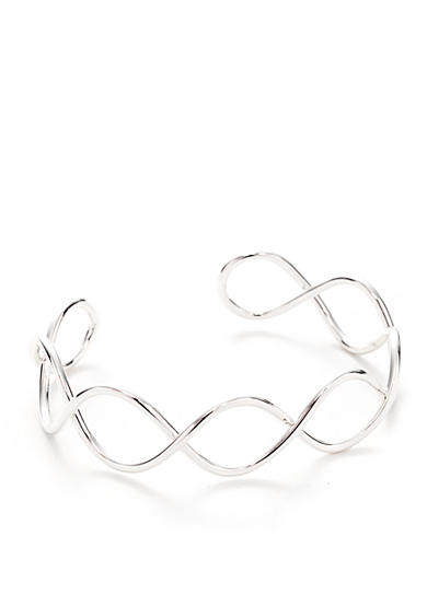 Nine West Wire Wave Cuff Bracelet