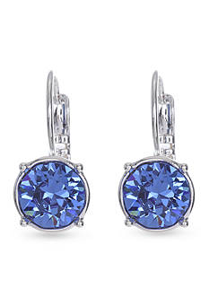 Nine West Blue Silver Medium Drop Leverback Earring