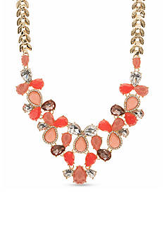 Nine West Gold-Tone Colors of the Season Statement Necklace