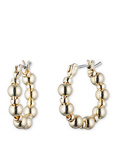 Nine West Ignite the Night Small Hoop Earrings