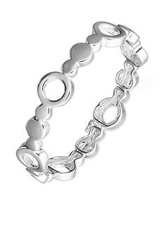 Nine West Silver-Tone Stretch Bracelet