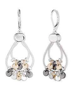 Nine West Tri-Tone Shaky Drop Earrings