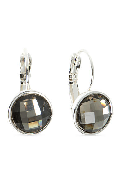 Nine West Silver-Tone Color Me Bright Bead Drop Earrings