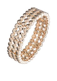 Nine West Gold-Tone Swing Along Three Row Stretch Bracelet