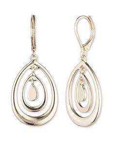 Nine West Gold-Tone Swing Along Orbital Drop Earrings