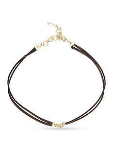 Nine West Gold-Tone Steel The Show Choker Necklace