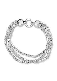 Nine West Silver-Tone Steel The Show Stretch Bracelet