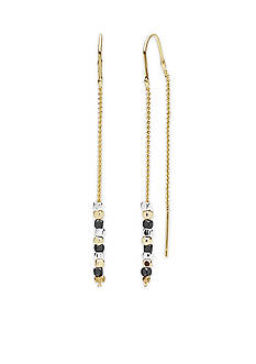 Nine West Gold-Tone Steel The Show Threader Earrings