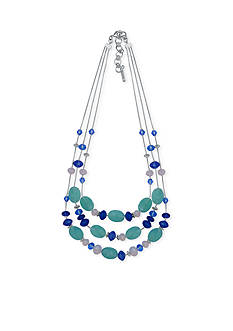 Nine West Silver-Tone Bring On The Bead Illusion Necklace
