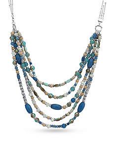 Nine West Silver-Tone Seaside Splendor Collar Necklace