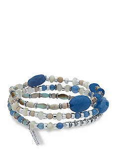 Nine West Silver-Tone Seaside Splendor Stretch Bracelet Set