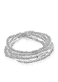 Nine West Silver-Tone Metal Basics 5-Piece Stretch Bracelet Set