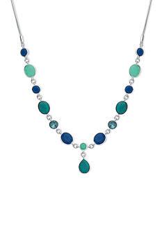 Nine West Silver-tone Spring Oasis Y-Neck Necklace