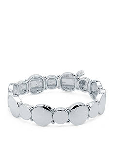 Nine West Silver-Tone Metallic Radiance Stretch Bracelet