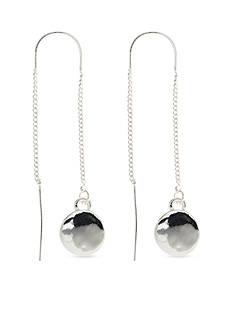 Nine West Silver-Tone Metallic Radiance Threader Earrings