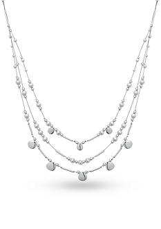 Nine West Silver-Tone Shimmer and Shake Illusion Necklace