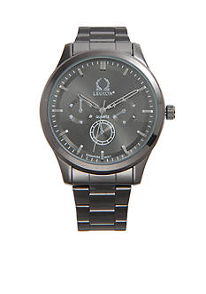 Legion Men's Gunmetal Link Bracelet Watch