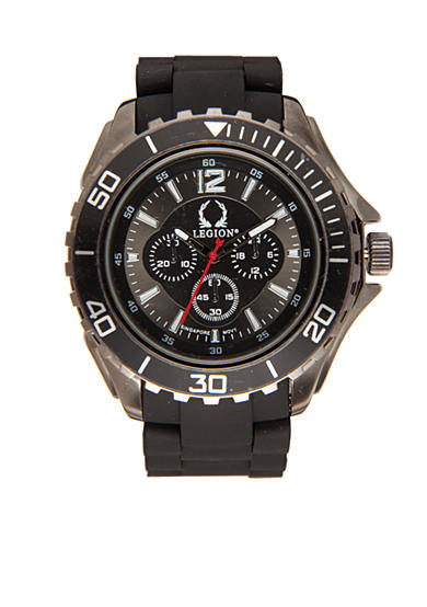 Legion Men's Black Rubber Watch