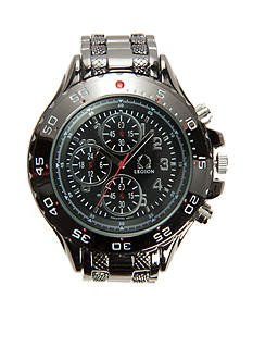 Legion Men's Imitation Chronograph Gunmetal Watch