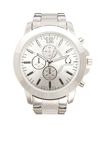 Legion Men's Silver-Tone Chronograph Watch