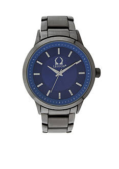Legion Men's Gunmetal and Blue Chronograph Watch