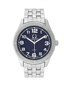 Legion Men's Silver Link with Blue Dial Watch