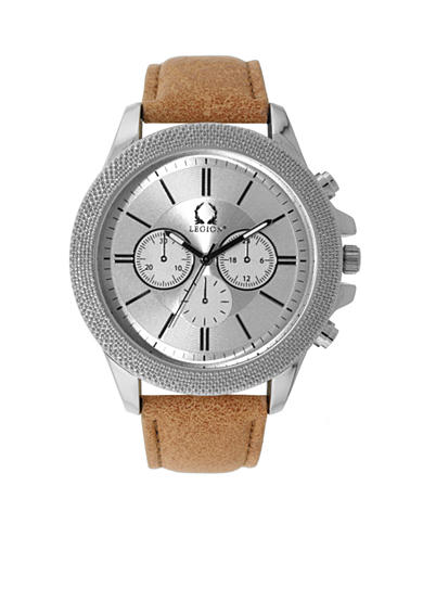 Legion Men's Tan and Silver Chronograph Watch