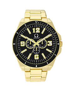 Legion Men's Gold-Tone and Black Chronograph Watch