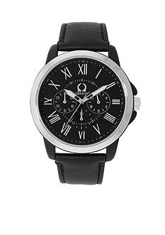 Legion Men's Silver- Tone and Black Watch