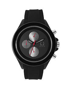 Legion Men's Silver-Tone Black on Black Sporty Watch