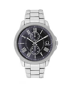 Legion Men's Chrono Silver Black Dial Watch