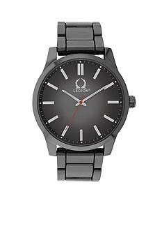 Legion Hematite-Tone Gunmetal Bracelet Watch