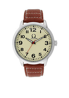 Legion Men's Vintage Brown Strap Watch
