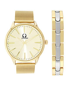 Legion Men's Gold-Tone Mesh Bracelet Set
