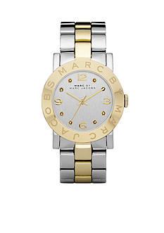 Marc Jacobs Amy Golden Two-Tone Glitz Watch