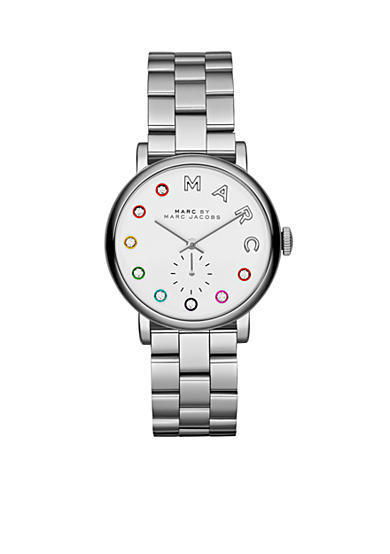 Marc Jacobs Women's Silver-Tone Baker Three Hand Stainless Steel Watch